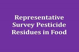Representative population survey: pesticides