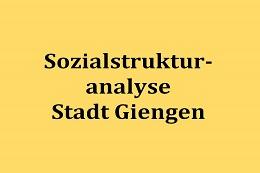 Sozialstrukturanalyse für die Stadt Giengen