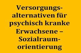 """Literaturrecherche zur Thematik """"Versorgungsalternativen für psychisch kranke Erwachsene mit beschütztem Hilfebedarf in Oberbayern unter dem Aspekt der Sozialraumorientierung"""""""