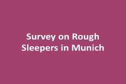 Survey on Rough Sleepers in the Provincial Capital Munich