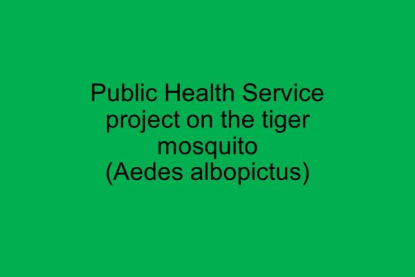 Public Health Service project on the tiger mosquito (Aedes albopictus): legal basis, responsibilities, and decision support for prevention and control of Aedes albopictus and arbovirus infections at the community level