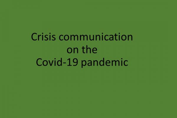 Crisis communication on the Covid-19 pandemic